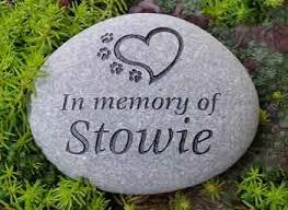 pet memorial stones personalized pet memorial stones say it in stones