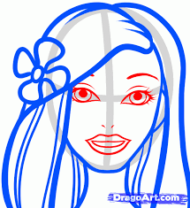 draw barbie face drawing art u0026 skethes