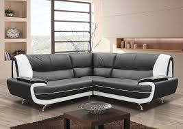 Leather Sofa Bed Corner Karol Leather Corner Sofa Black Red Brown Cream Or Black White
