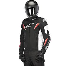 armored leather motorcycle jacket alpinestars t gp r waterproof jacket black white red