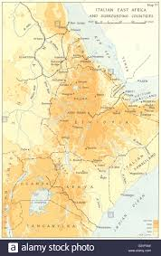 East Africa Map Abyssinia Ethiopia Italian East Africa U0026 Surrounding Countries