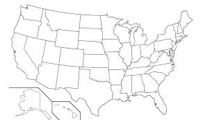 50 states blank map map usa