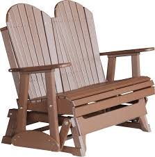 Recycled Adirondack Chairs Luxcraft Poly 4ft Adirondack Style Glider Swingsets Luxcraft