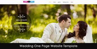 wedding site wedding single page website template needmytheme