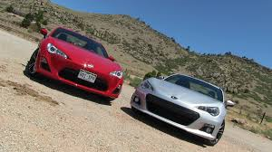 toyota subaru scion 2013 subaru brz vs scion fr s 0 60 mph mile high mashup review