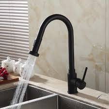 kitchen taps and sinks 2016 luxury black crane pull out kitchen faucet dual sprayer spout