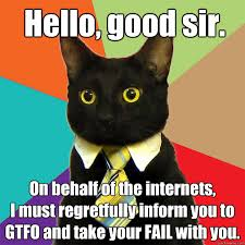 Internets Meme - hello good sir on behalf of the internets cat meme cat planet