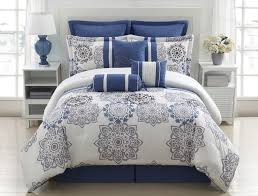 bedding and home decor 9 piece queen kasbah blue and gray comforter set grey comforter