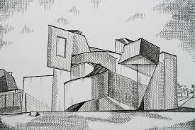 building sketch vitra design museum hena wang portfolio