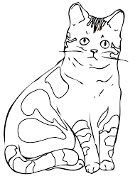 free printable cat coloring pages for kids animal place