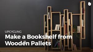 make bookshelf from wooden pallets upcycling youtube