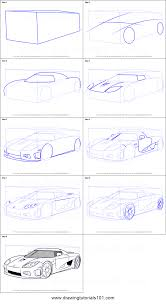 how to draw koenigsegg ccx printable step by step drawing sheet