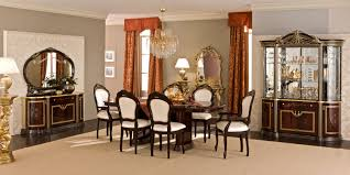 Mahogany Dining Room Furniture Luxor Dining Room Set In Mahogany Lacquer Finish By Camelgroup