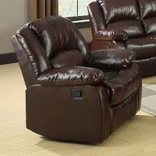 Reclining Sofa Loveseat Sets Winslow 2pcs Rustic Brown Bonded Leather Recliner Sofa Loveseat
