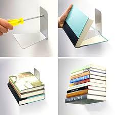 bedroom glamorous floating bookshelf book shelf brackets