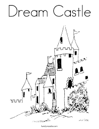 dream castle coloring twisty noodle