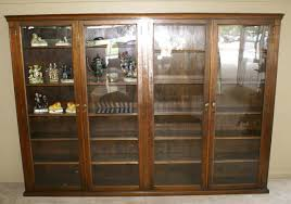 Cherry Bookcase With Glass Doors Bookcases With Glass Door Solid Wood Bookcases Cherry Bookcase