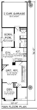 narrow lot floor plan house plan 72921 at familyhomeplans com
