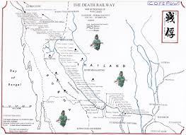 Map Burma Burma Siam Railway Map Cofepow