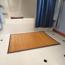 Bathroom Floor Mats Rugs Try Using A Bamboo Rug In The Bathroom So Easy To Clean Rugs