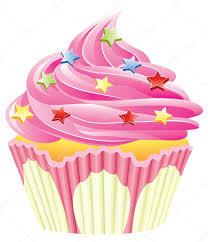 Cherry Cupcake Invitation Card Royalty Cupcake White Background Stock Vectors Royalty Free Cupcake White