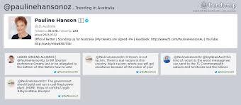 Now Trending Be Like Bill - trends australia on twitter pauline hanson paulinehansonoz