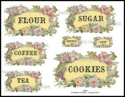 labels for kitchen canisters tags vintage shabby floral canister set spice