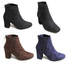 womens navy ankle boots uk womens faux suede zip ankle boots navy with simple type in uk