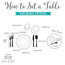 Casual Table Setting How To Set The Table Easy Guide To Informal And Formal Dinner