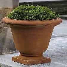Cheap Patio Pots Brown Slate Simple Design Flower Pots Cheap Planter Pots From