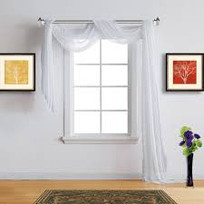 warm home designs faux linen bright white sheer curtains in 7