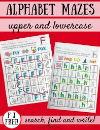 alphabet mazes uppercase and lowercase letters liz u0027s early