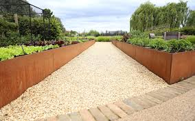paneltech systems steel and corten for landscaping and garden