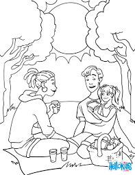 the picnic coloring pages hellokids com