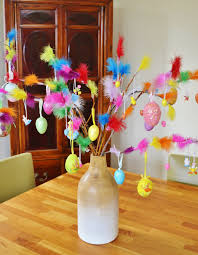 Homemade Easter Tree Decorations by Swedish Easter Tradition Paskris Birch Twigs Decorated With