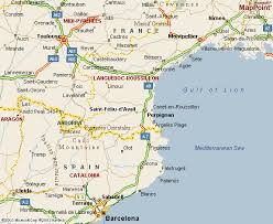 map of perpignan region perpignan map