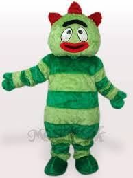 gabba gabba green monster short plush mascot costume