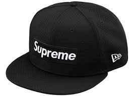nw era supreme new era mesh box logo cap black