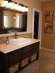 Bathroom Vanity Top For Modern Design Simple Black Ceramic Tile - Tile backsplash bathroom