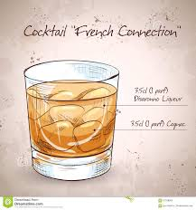 old fashioned cocktail illustration french connection cocktail stock vector image 61328985