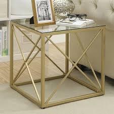 Cube Side Table Metal Cube Side Table Wayfair
