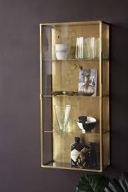 wall mounted kitchen display cabinets brass glass wall mounted display cabinet rockett st