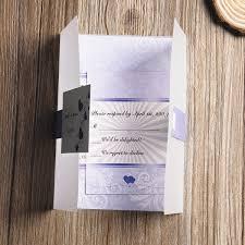 affordable pocket wedding invitations affordable lavender purple hearts printed pocket wedding
