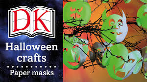 halloween crafts paper plate masks youtube