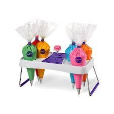 Wilton Cupcake Decorating Kit Pastry Bag Holder Wilton 33x18cm