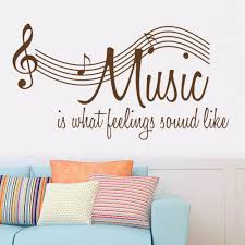 search on aliexpress com by image brown music note music is what feeling sound like character sayings wallpaper wall sticker modern mural home decor vinyl decal