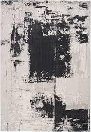 Luke Irwin Rugs by Surya Nuage Nua1004 Grey Black Contemporary Area Rug Black