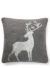 Cosy Cushions Grey Sequin Stag Cushion Bhs Christmas Pinterest Stag Cushion