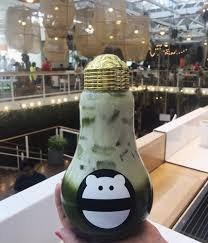 snow monster boba in a very cool cup yelp