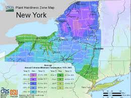 map of state of ny new york usda map of hardiness planting zones